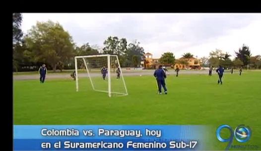 Colombia vs. Paraguay, en la fase final del Suramericano Femenino Sub-17