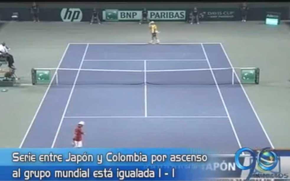 Serie entre Japón y Colombia por Copa Davis está igualada a un punto