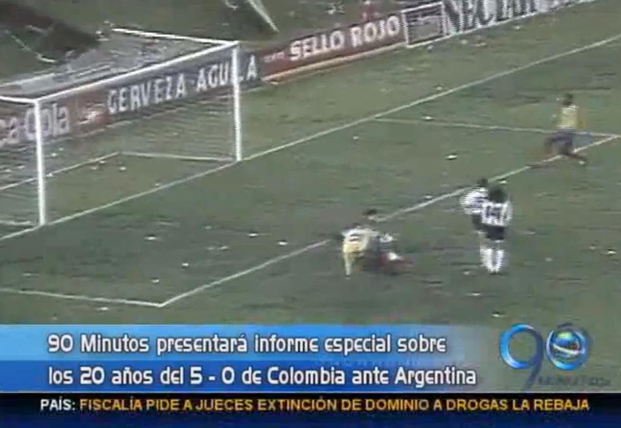 90 Minutos prepara informe especial sobre los 20 años del 5 – 0 de Colombia frente a la Argentina