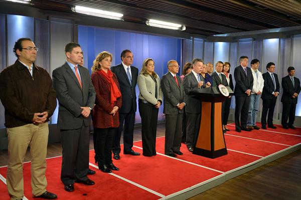 El nuevo equipo del presidente Santos
