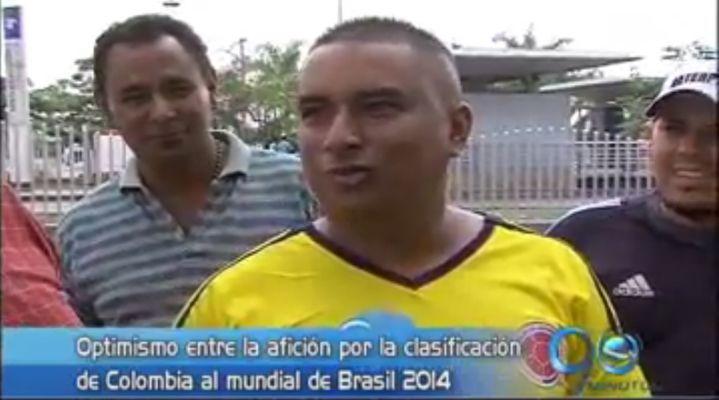 Optimismo entre los aficionados por la clasificación de Colombia al mundial