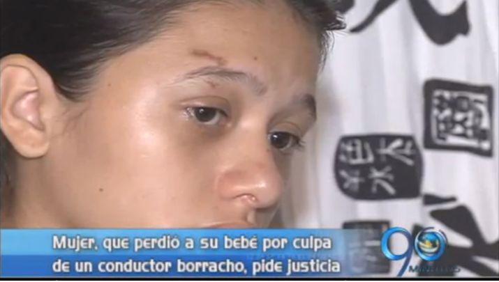 Mujer embarazada, víctima de conductor ebrio, pide justicia