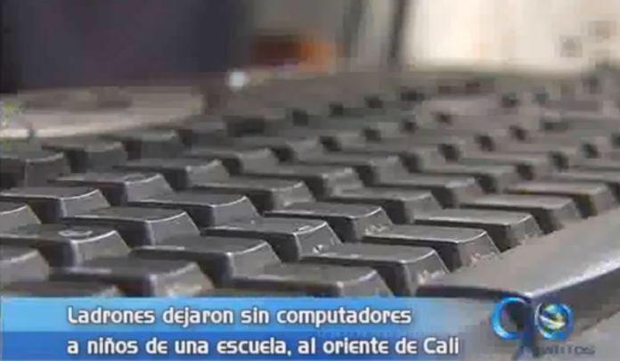 Roban computadores de una escuela, al oriente de Cali