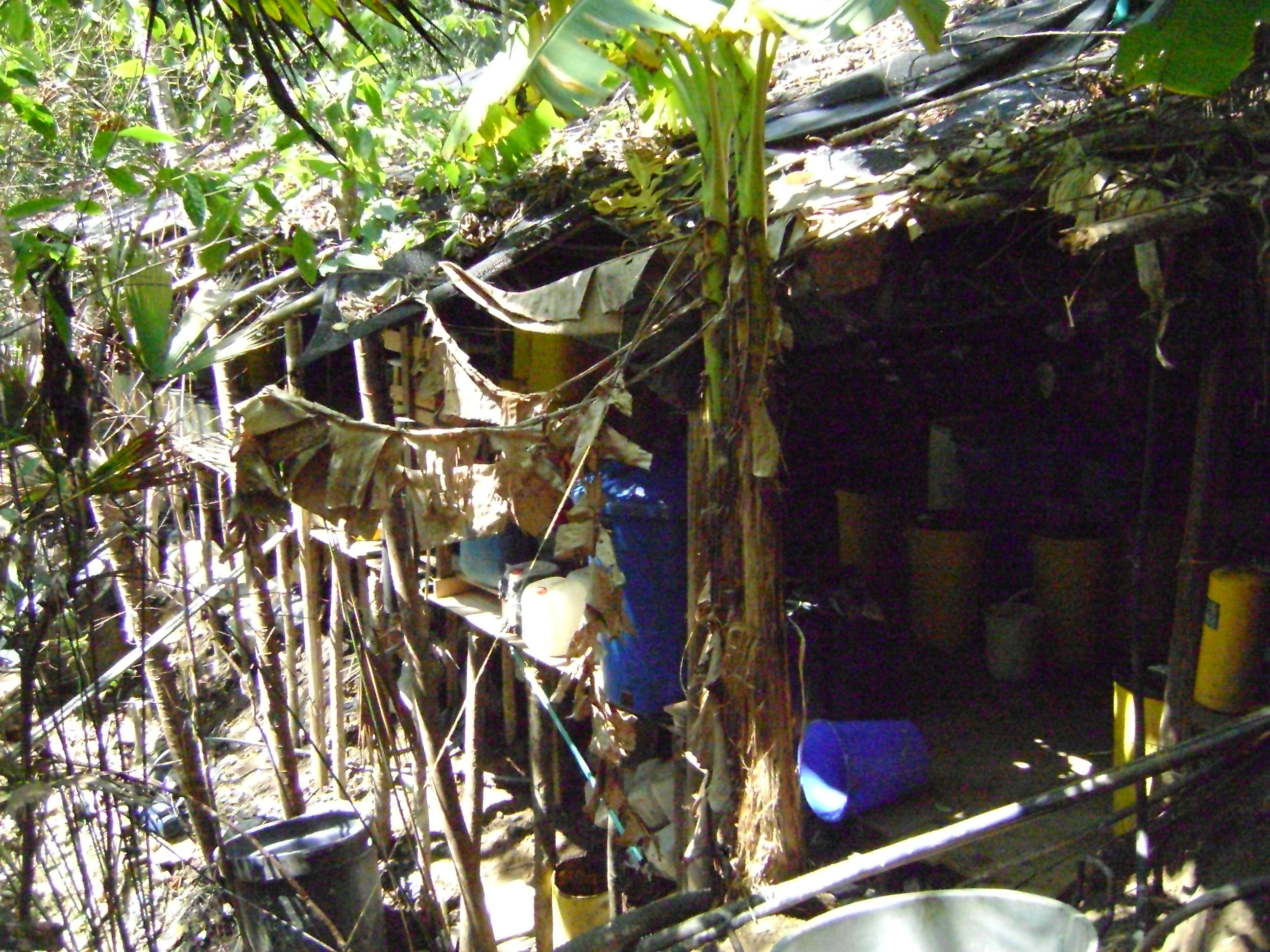 Ejercito destruye 2 laboratorios artesanal de procesamiento de cocaína