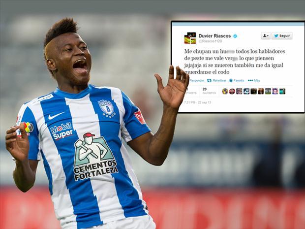 El jugador de Buenaventura, Duvier Riascos, fue sancionado por ofender  a la hinchada
