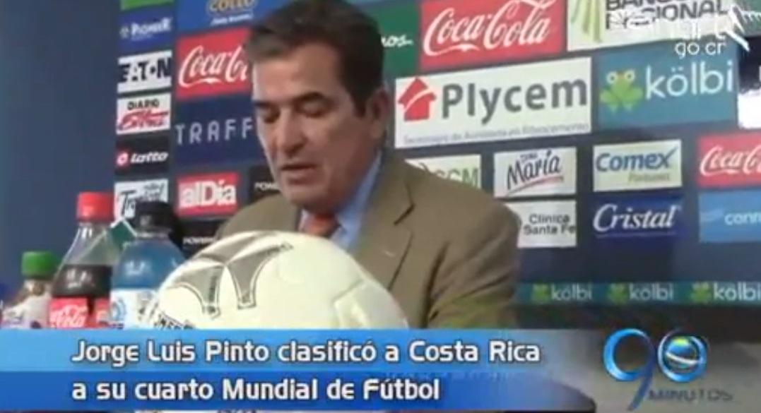 el tècnico Jorge Luis Pinto clasificó a Costa Rica al Mundial