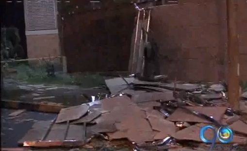 Fuerte vendaval causó estragos al sur de Cali