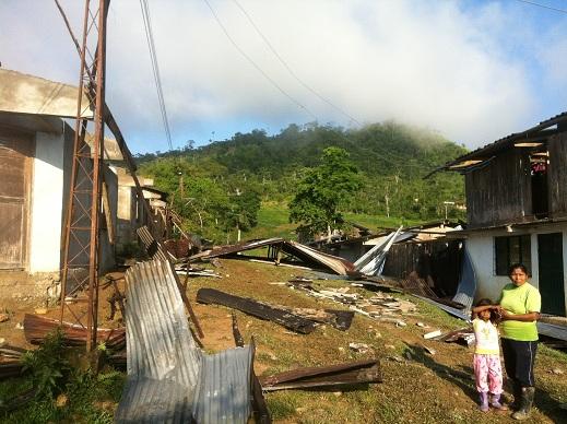 Vendaval destruye cosechas en Cajibio, Cauca