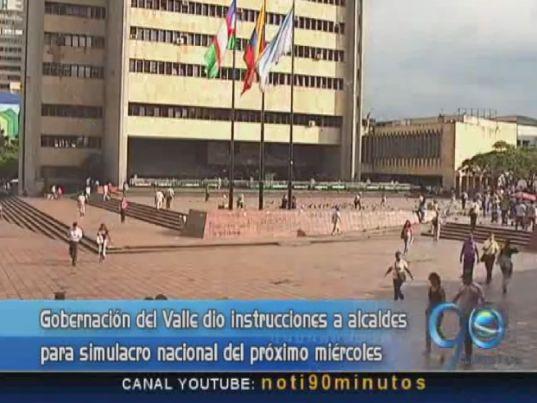Gobernación del Valle se prepara para simulacro nacional sobre sismos