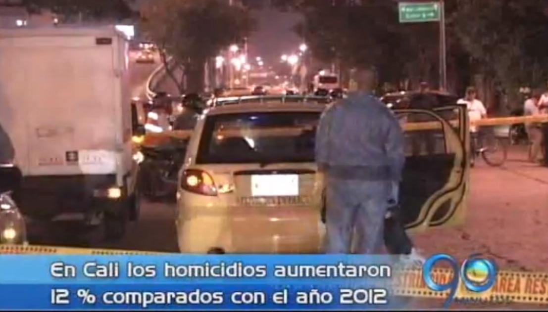 Asesinatos en Cali han aumentado 12 por ciento este año