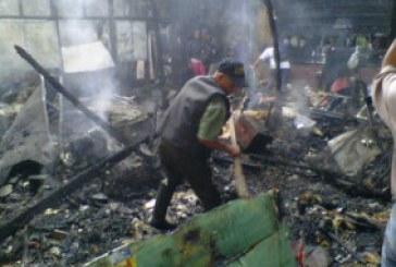 Incendio en la galería de Popayán