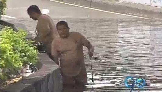 Fuerte aguacero causó inundaciones en Cali esta madrugada
