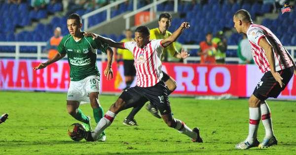 Deportivo Cali logró un empate frente a los 'tiburones' en Barranquilla