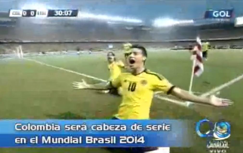 Colombia será cabeza de serie en el Mundial de Brasil por primera vez