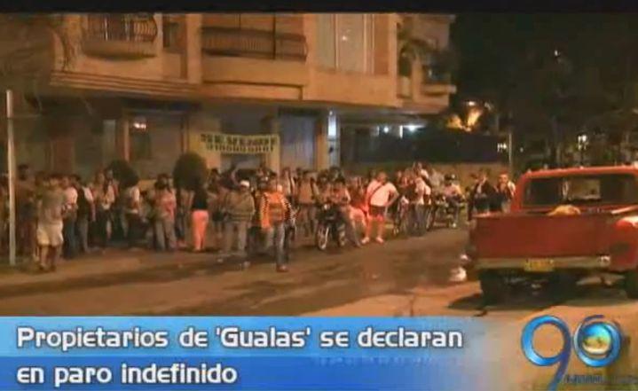 Propietarios de 'gualas' se declaran en paro indefinido