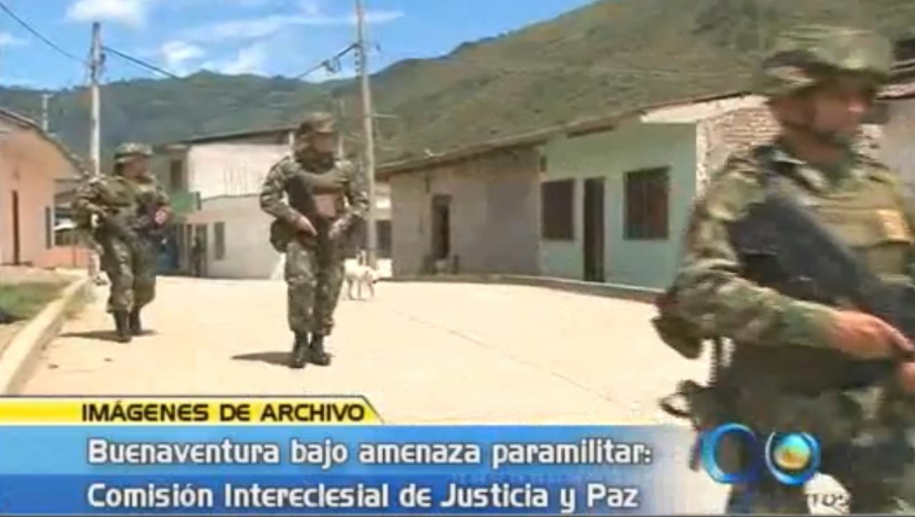 Grupos paramilitares amenazan a Buenaventura