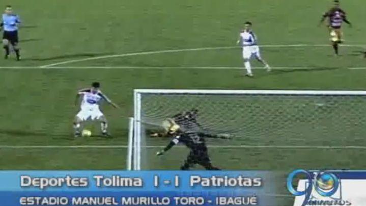 Deportes Tolima y Patriotas empataron en la fecha número 13