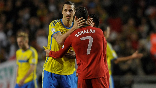 El primer duelo lo ganó Cristiano Ronaldo a Zlata Ibrahimovich