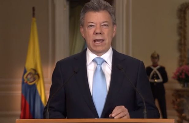 Santos confirma su intención de reelegirse en la Presidencia