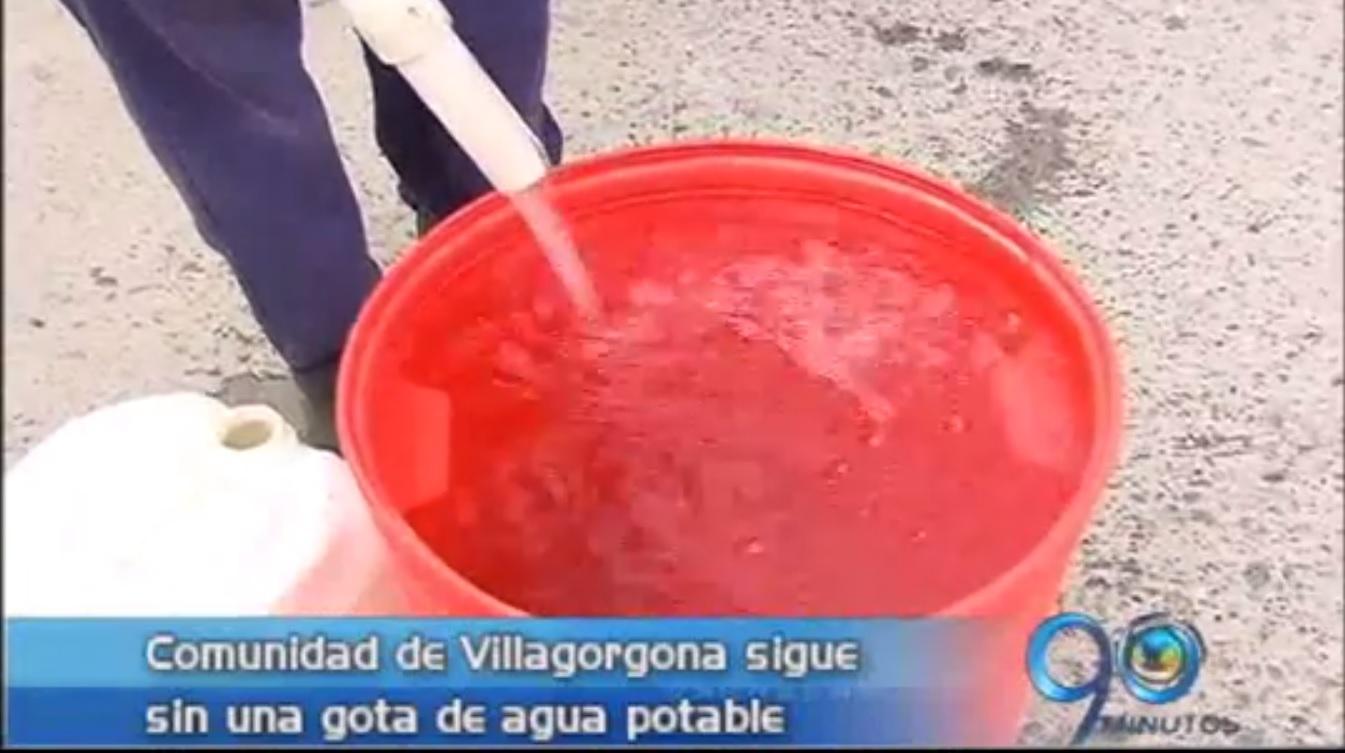 Habitantes de Villagorgona exigen el servicio de agua potable