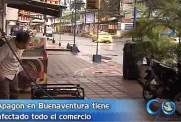 falta de energía en Buenaventura afecta al comercio