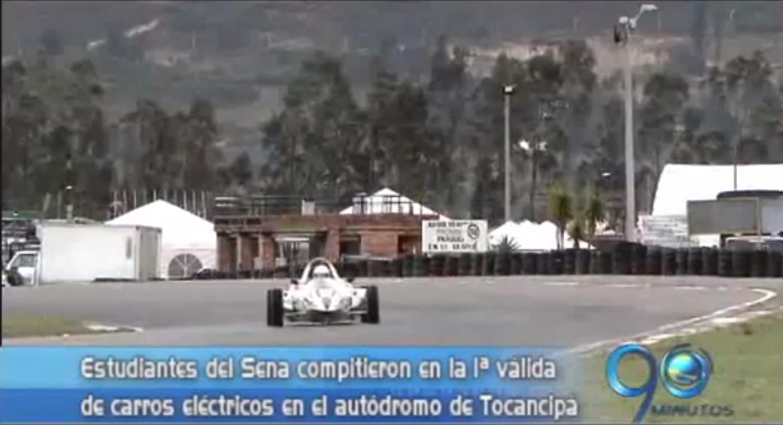 El Sena realizó carrera de autos eléctricos en el autódromo de Tocancipá