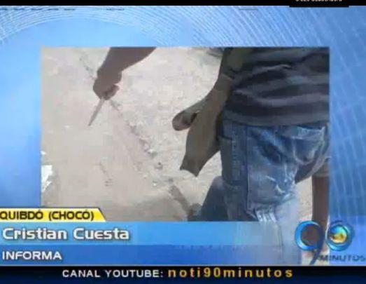Transeúntes capturan a un atracador en el centro de Quibdó