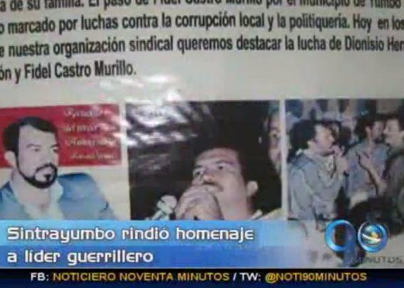 Sindicato de Yumbo rinde homenaje a carcelero del ELN