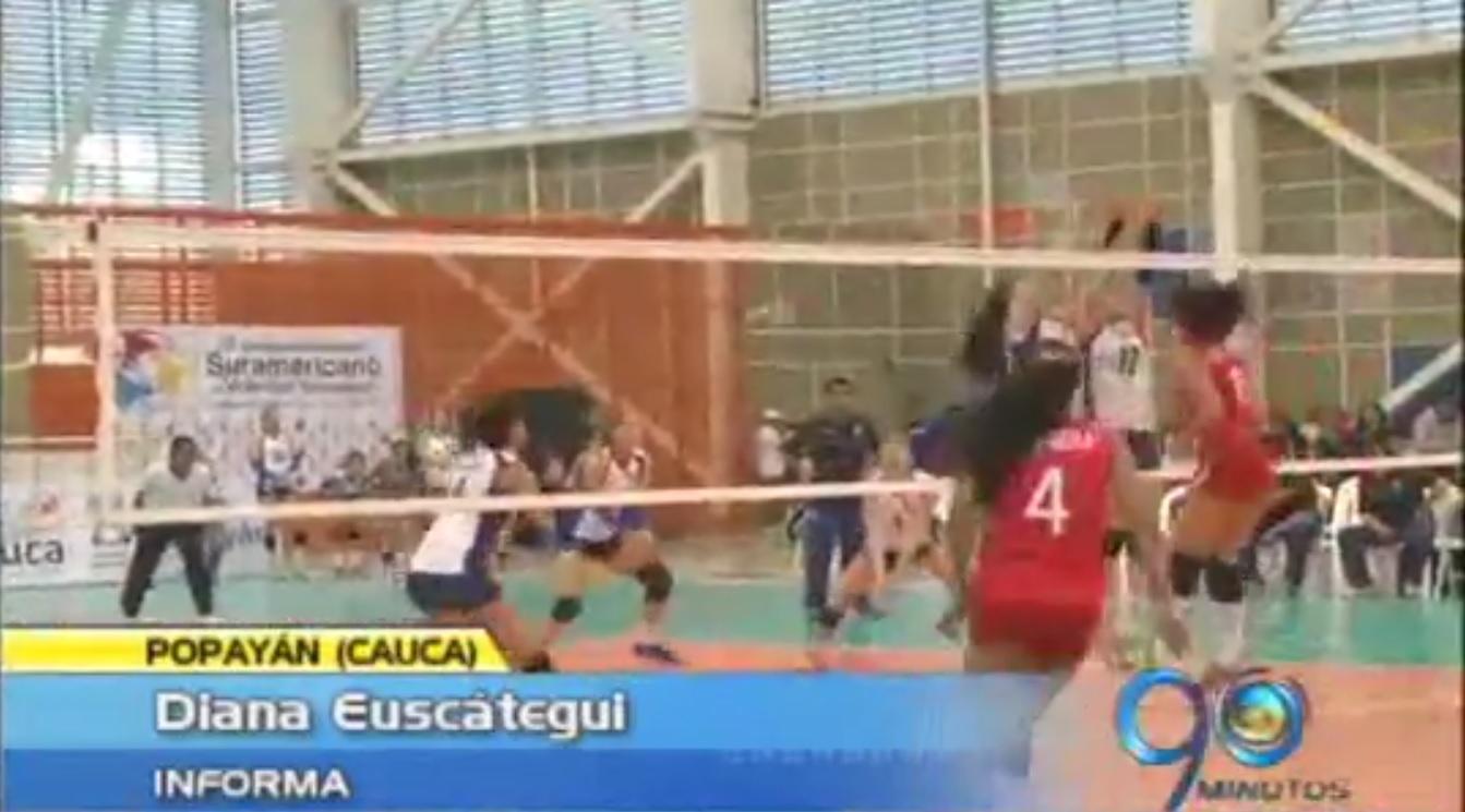 En Popayán se realiza el Suramericano de voleibol infantil