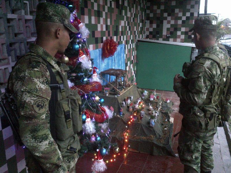 El Ejército vive la navidad con la población caucana