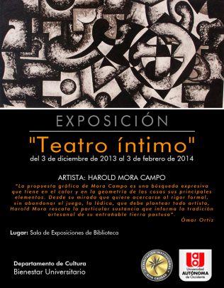 En la academia estará la exposición Teatro Íntimo
