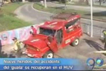 Accidente de 'guala' en la calle quinta de Cali dejó 15 heridos