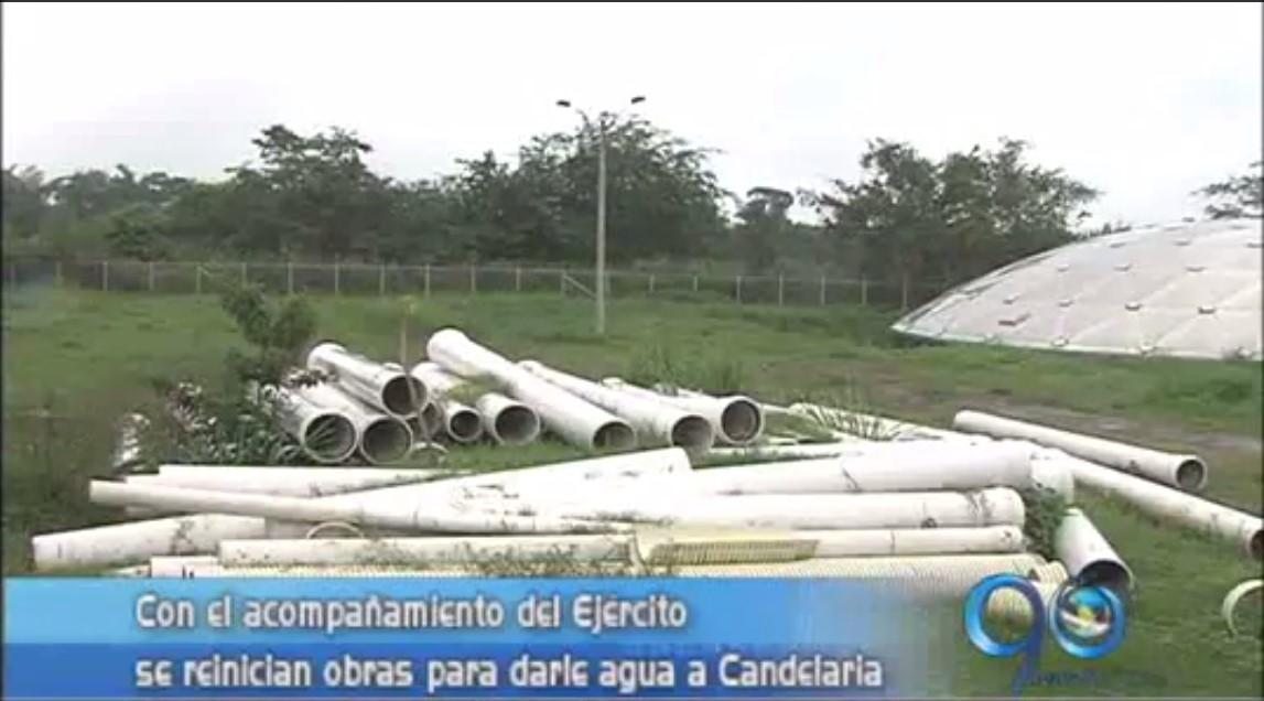 Reiniciaron la instalación del acueducto en Candelaria