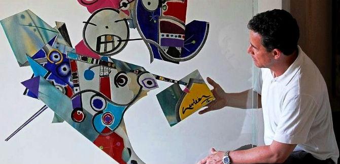 Artista vallecaucano expone su obra en Bogotá