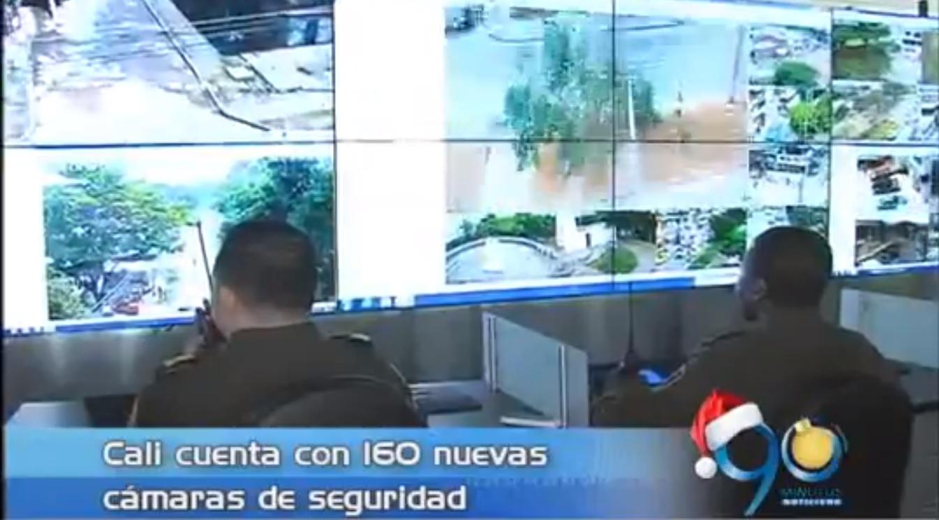 Cali cuenta con 160 nuevas cámaras de seguridad