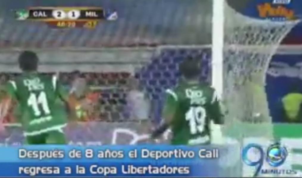 Cali se impuso ante Millonarios y avanzó a la Copa Libertadores
