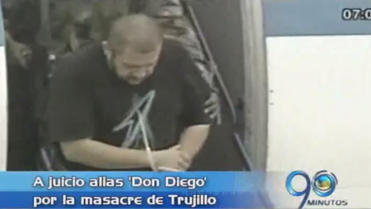 A juicio alias 'Don Diego' por la masacre de Trujillo