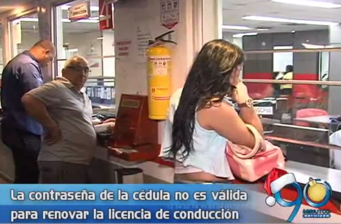Licencia de conducción solo se podrá renovar con la cédula