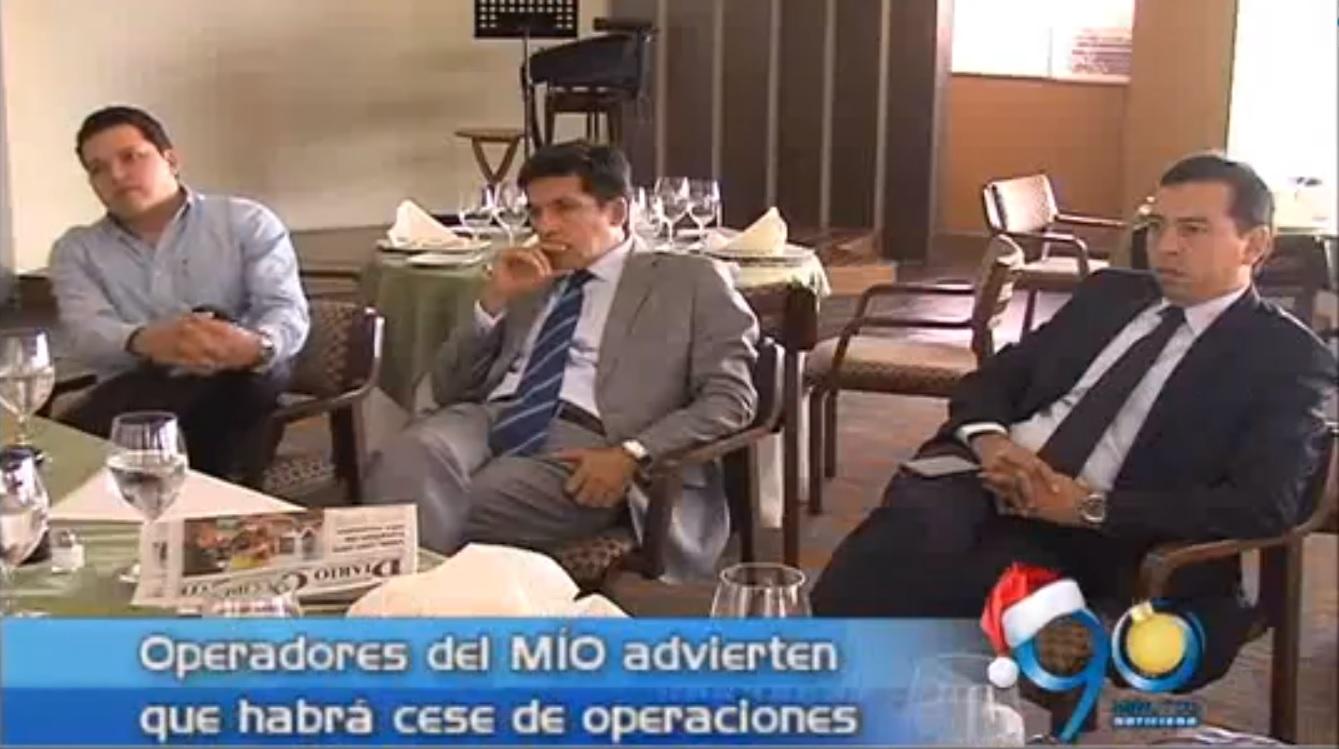 Alberto Hadad responde a operadores del MÍO sobre amenazas de paro