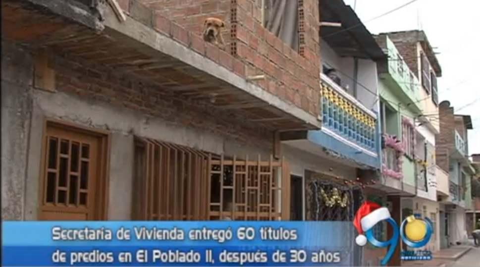 Secretaría de Vivienda entregó 60 títulos de predios en El Poblado