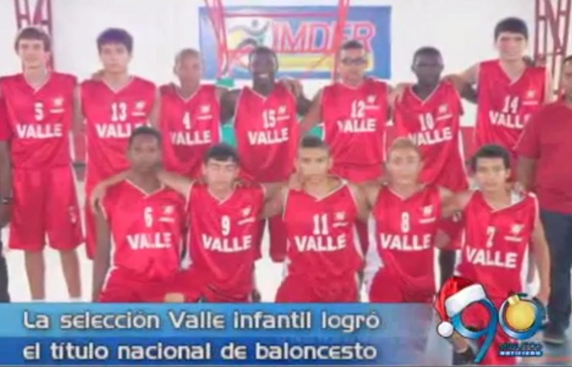 Selección infantil de Baloncesto del Valle se coronó campeón