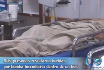 Heridos por bomba incendiaria dentro de un bus se recuperan en el HUV