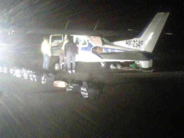 Encuentran avioneta con droga y armamento