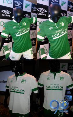 La nueva camiseta del Deportivo Cali hizo un homenaje a épocas pasadas