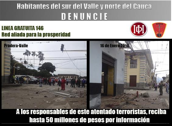 En imágenes: Así vivieron el atentado de la mañana del jueves en Pradera, Valle