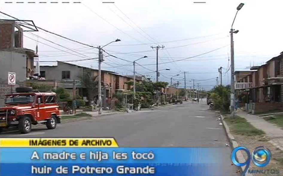 En Potrero Grande sí operan bandas delincuenciales según desplazadas del mismo barrio