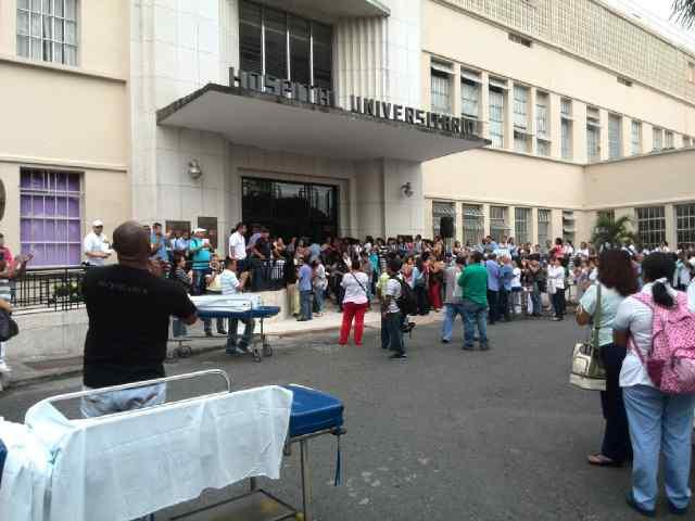 Protestas en el Hospital Universitario por falta de recursos