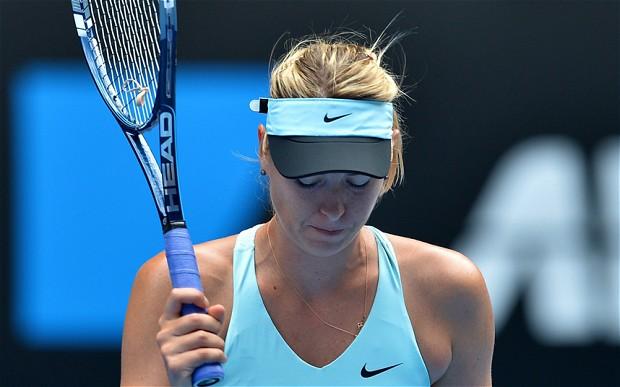 Sharapova fue eliminada en los octavos de final en Australia