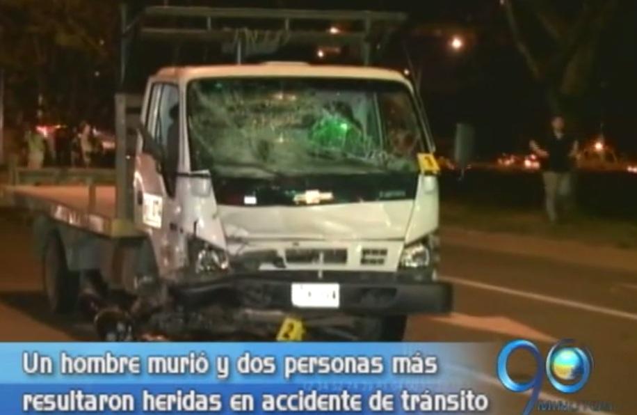 Accidente de tránsito causó la muerte a una persona y dejó heridas a tres