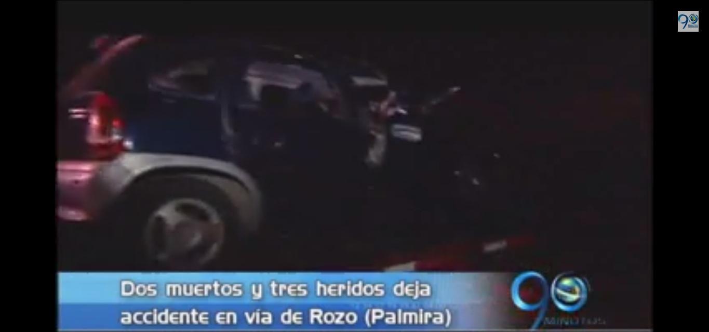 Dos muertos y tres heridos deja accidente en la vía a Rozo